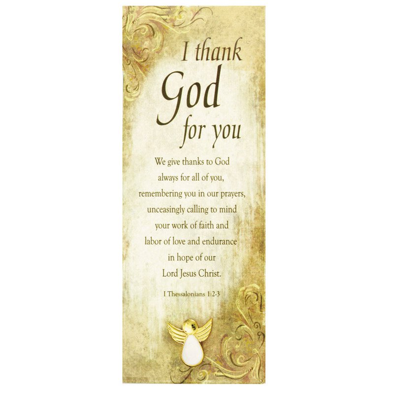 Angel Lapel Pin with Appreciation Bookmark - 12/pk