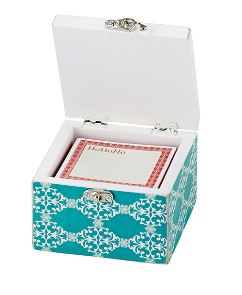 Trinket Box with Notepad Joyeux Noel