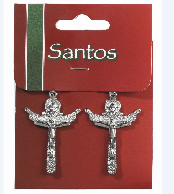 2Pc Trinity Crucifix Solid 12Pk