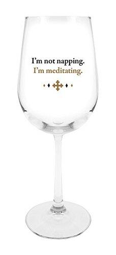 Stemmed Wine Glass - I'm Meditating