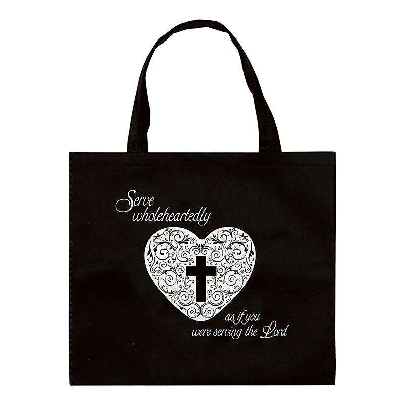Serve Wholeheartedly Bag Tote Bag - 12/pk