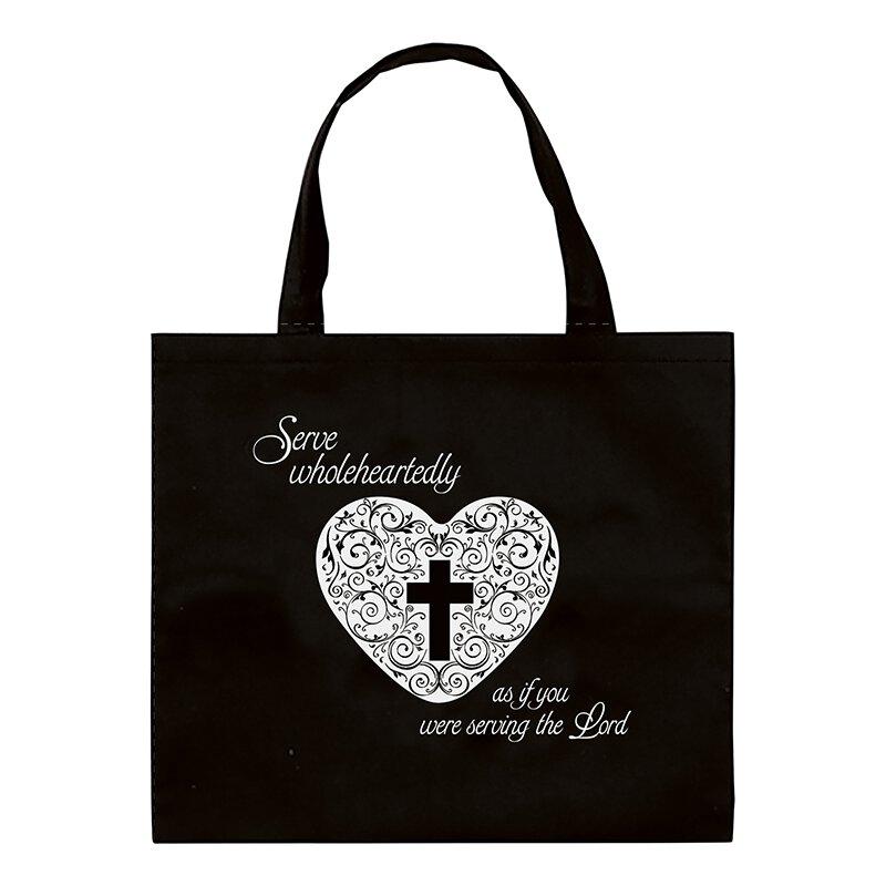 Serve Wholeheartedly Bag Tote Bag - 12/pk