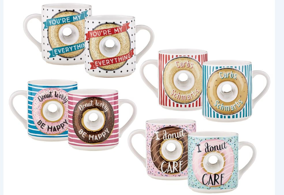 Doughnut Hole Mugs Assorted 4Pcs
