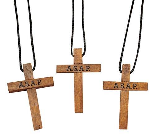 ASAP Cross Pendant W/Card 24/k