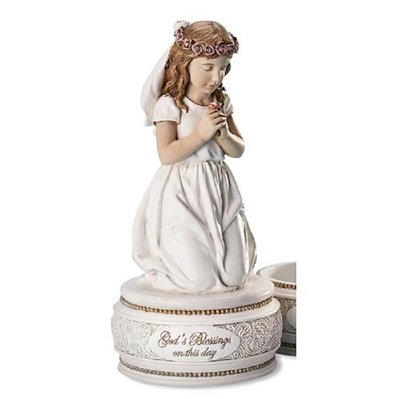 Kneeling Girl - First Communion Rosary Holder