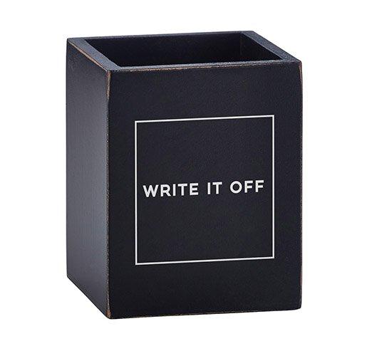 Write It Off Pen Holder Empty