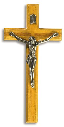 Carved Wood Crucifix with Antique Gold Corpus