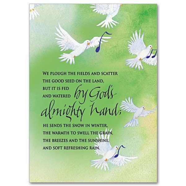 God's Almighty Hand Birthday Card