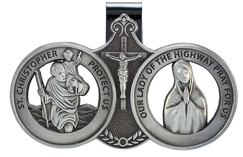 Saint Christopher/Our Lady of Grace - Visor Clip for Cars