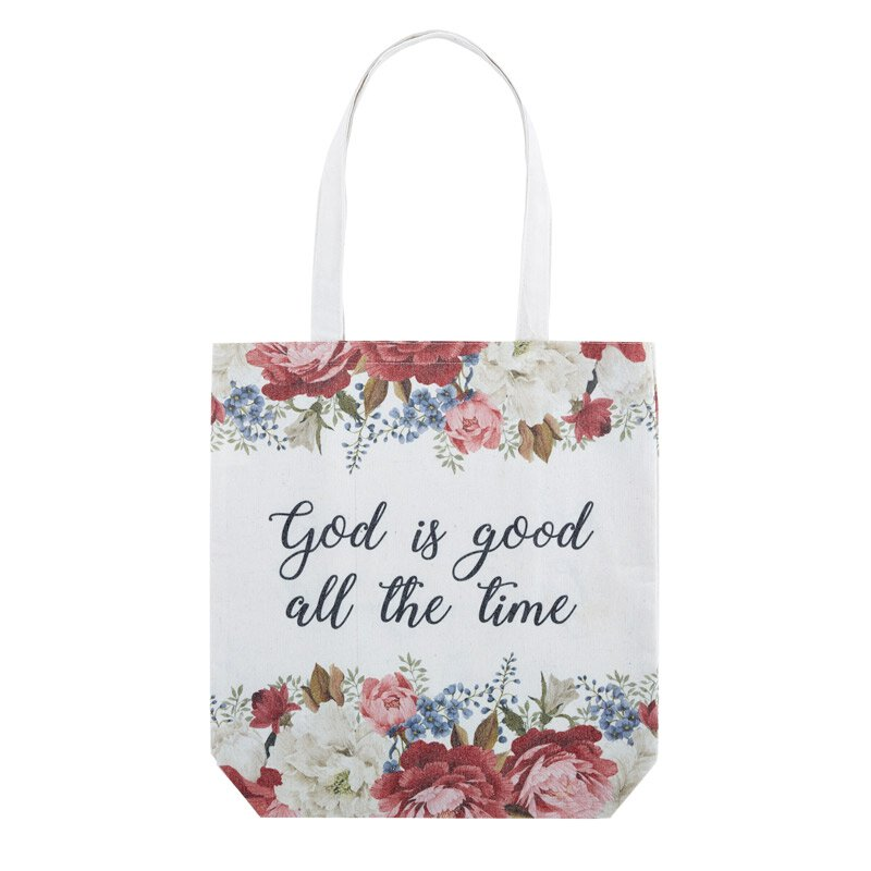 God is Good All the Time Tote Bag with Inside Pocket - 8/pk