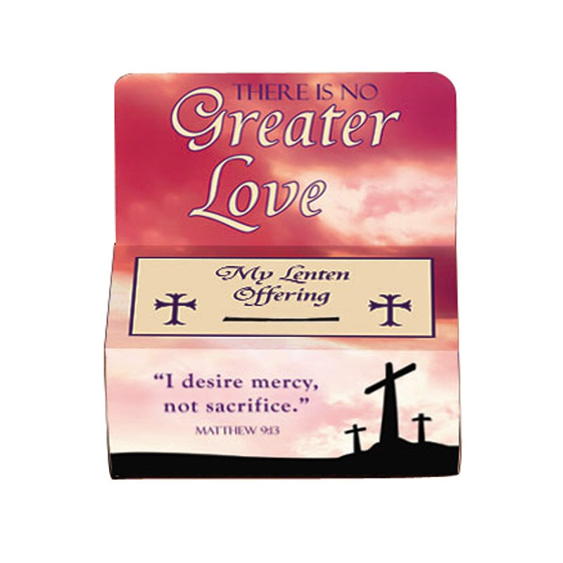No Greater Love Lenten Offering Box - 100/pk