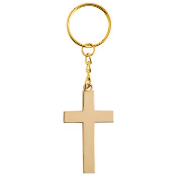 For God So Loved Key Chain with Card - 12/pk