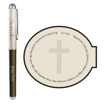 For God So Loved Gift Pen with Notepad - 12/pk