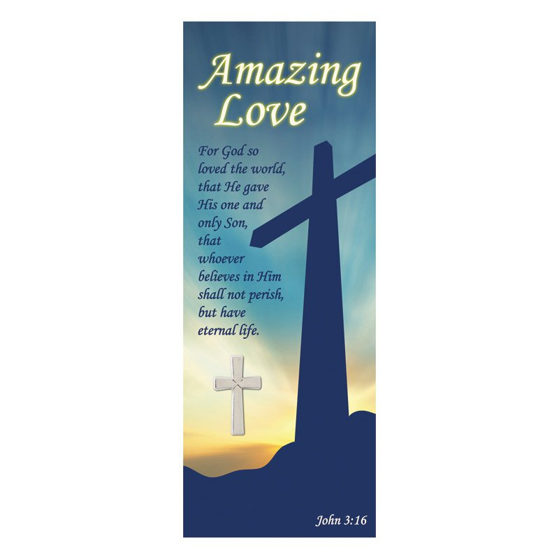 Lovely Amazing Love Lapel Pin With Bookmark   12/pk