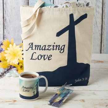 Amazing Love Tote Bag with Inside Pocket - 12/pk