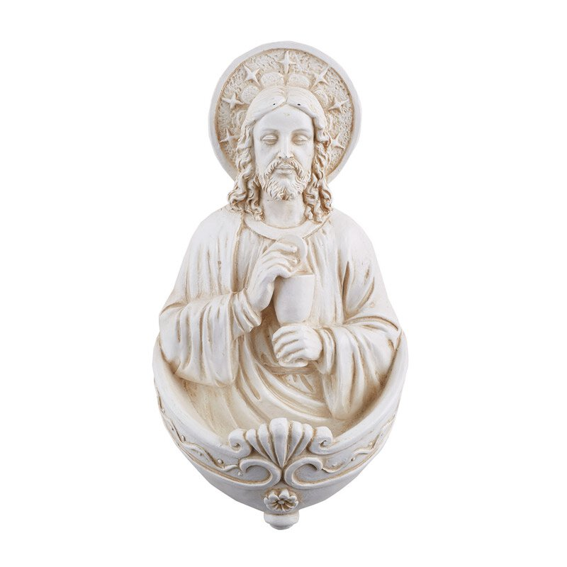 Christ with Chalice Holy Water Font - 3/pk