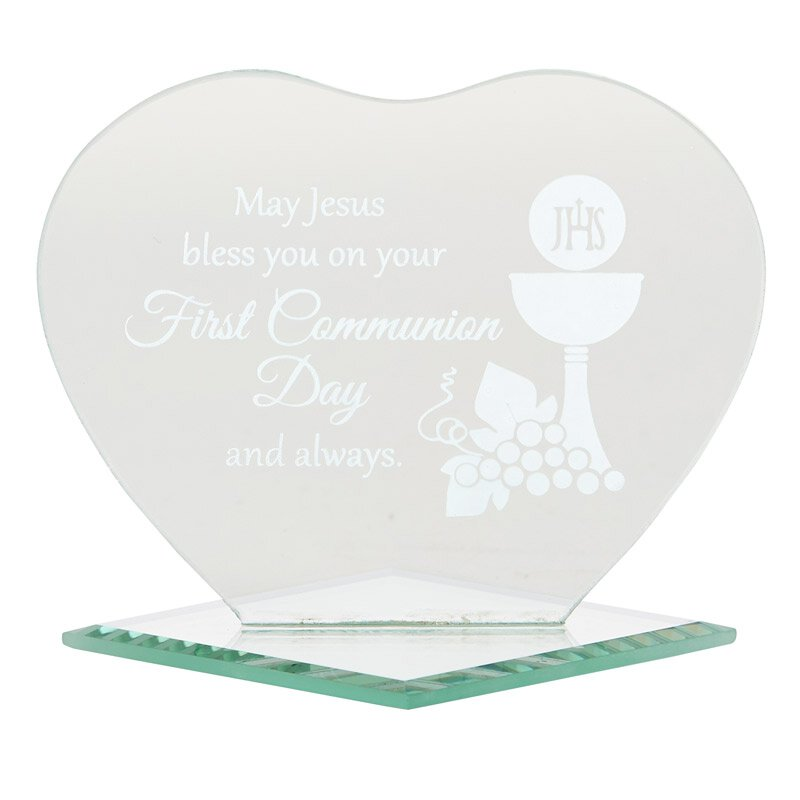 May Jesus Bless You First Communion Heart Stand - 12/pk