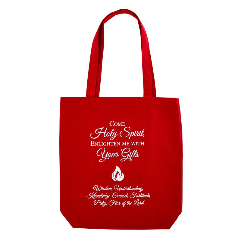 Come Holy Spirit Confirmation Tote Bag with Inside Pocket - 12/pk