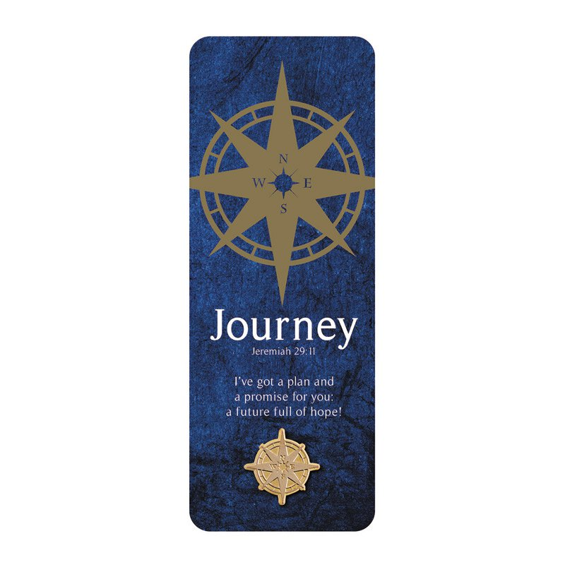 Journey Lapel Pin with Bookmark - 12/pk