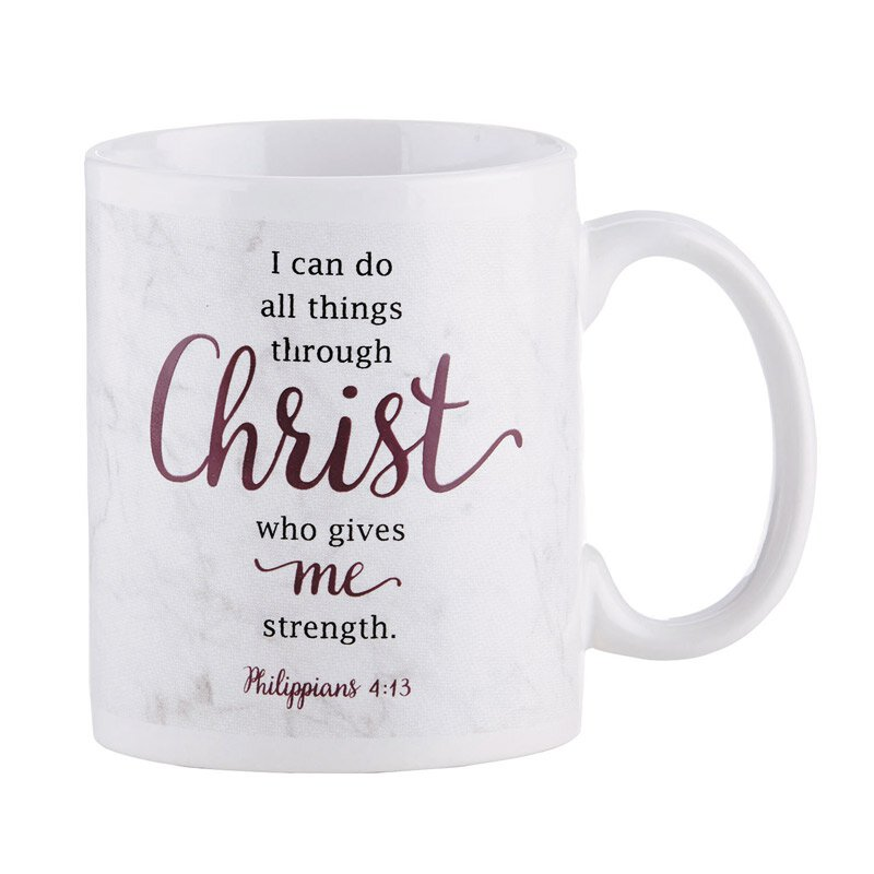 I Can Do All Things Through Christ Mug - 12/pk
