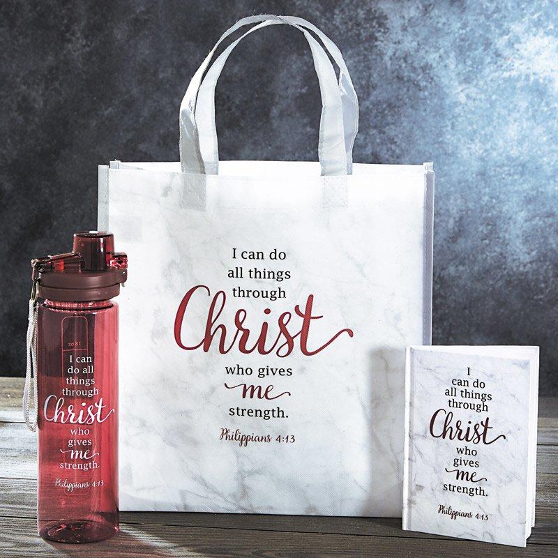 NEW Religious Tote Bag Reusable Bag Philippians 4:13 Tote Nylon