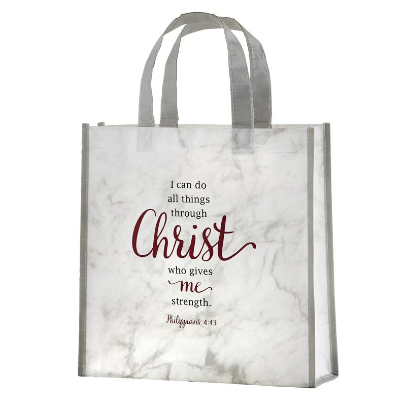 I Can Do All Things Through Christ Laminated Tote Bag - 12/pk