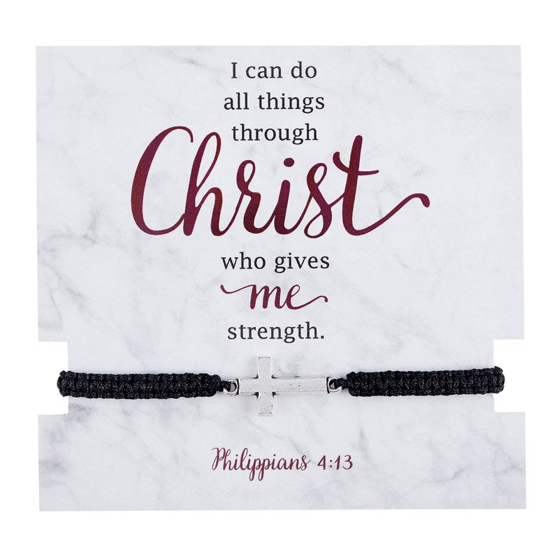 I Can Do All Things Through Christ Bracelet with Card - 12/pk