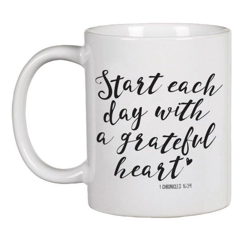 Start Each Day with a Grateful Heart Mug - 12/pk