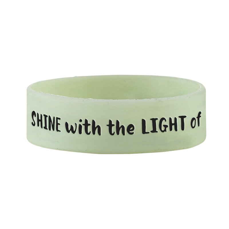Shine with the Light of Jesus Neon Wristband - 24/pk