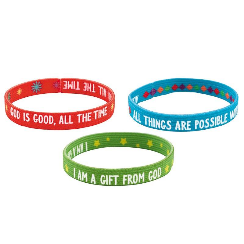 Faith Sayings Inspirational Bracelet Assortment (3 Asst) - 48/pk