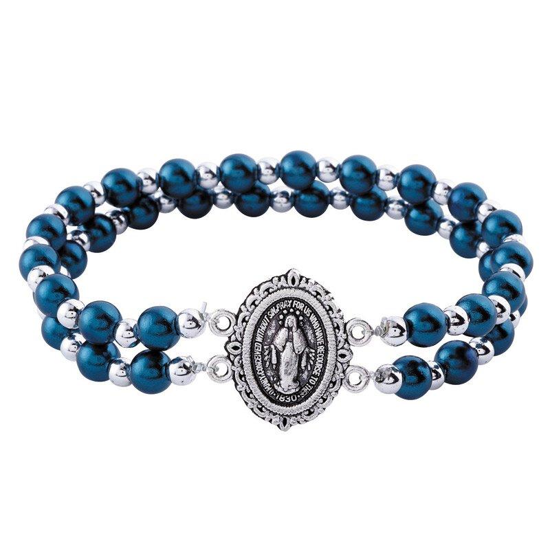 Miraculous Medal Beaded Devotional Bracelet - 12/pk