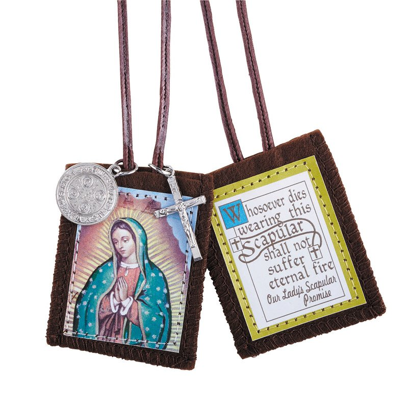 Our Lady of Guadalupe Scapular with Medals - 12/pk