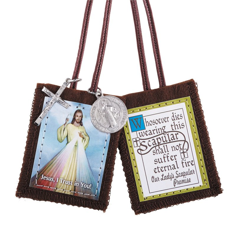 Divine Mercy Scapular with Medals - 12/pk