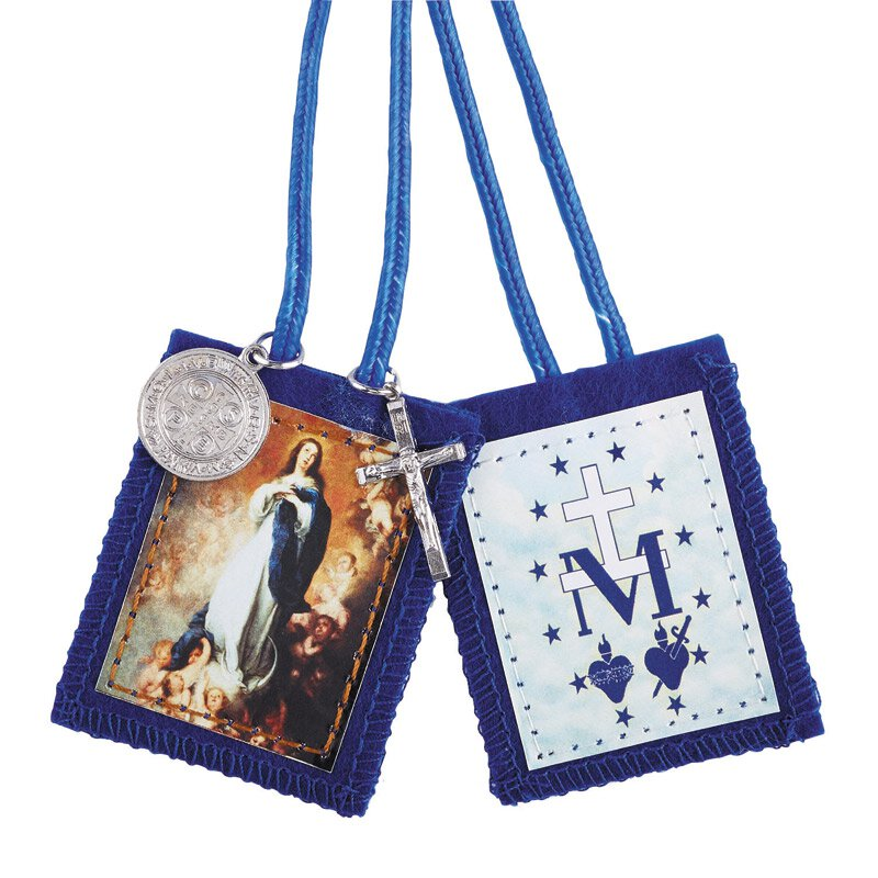 Immaculate Conception Scapular with Medals - 12/pk