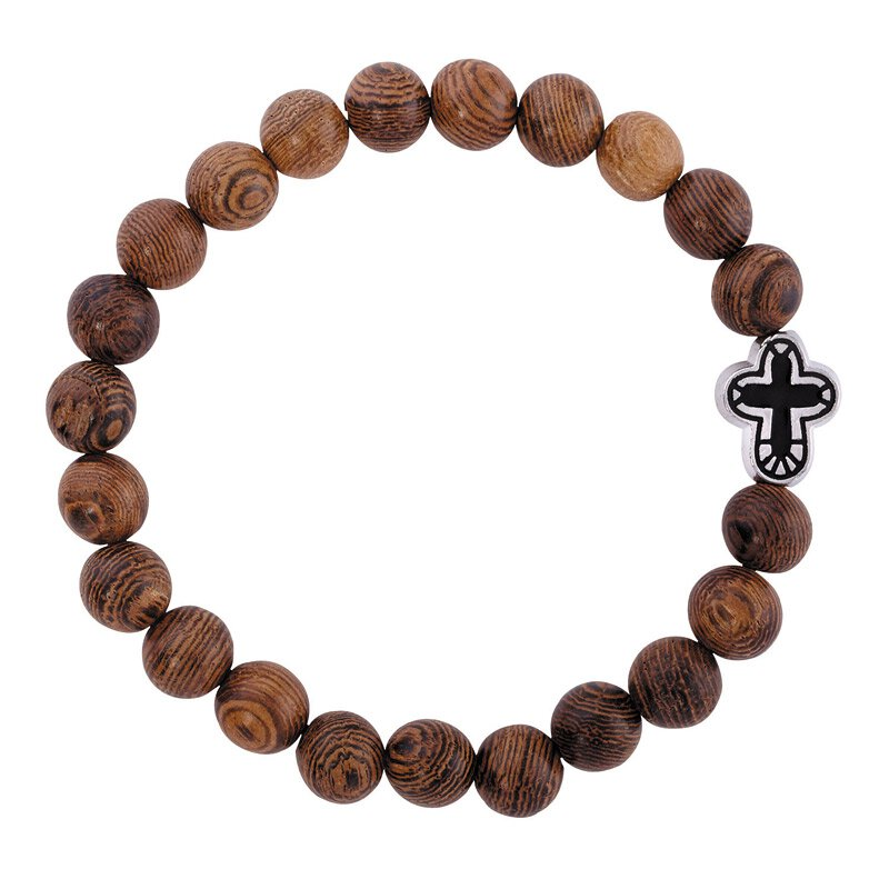 Gethsemane Collection Beaded Cross Bracelet - 12/pk