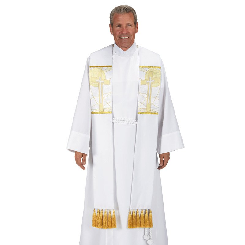 Symbols of the Liturgy Series Overlay Stole - Cross