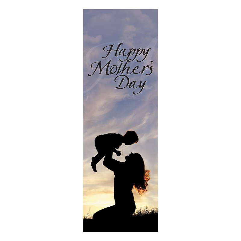 Mother's Day Silhouette Banner