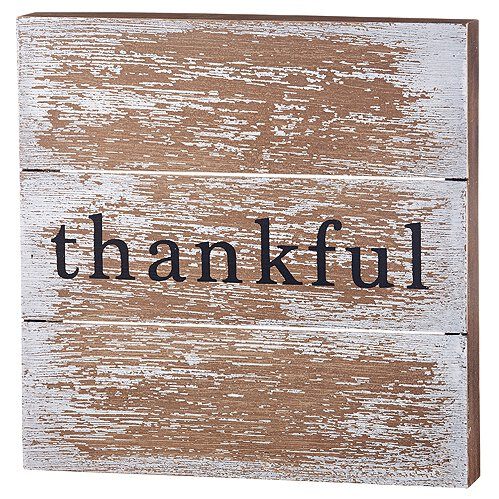 Thankful Pallet Box Sign
