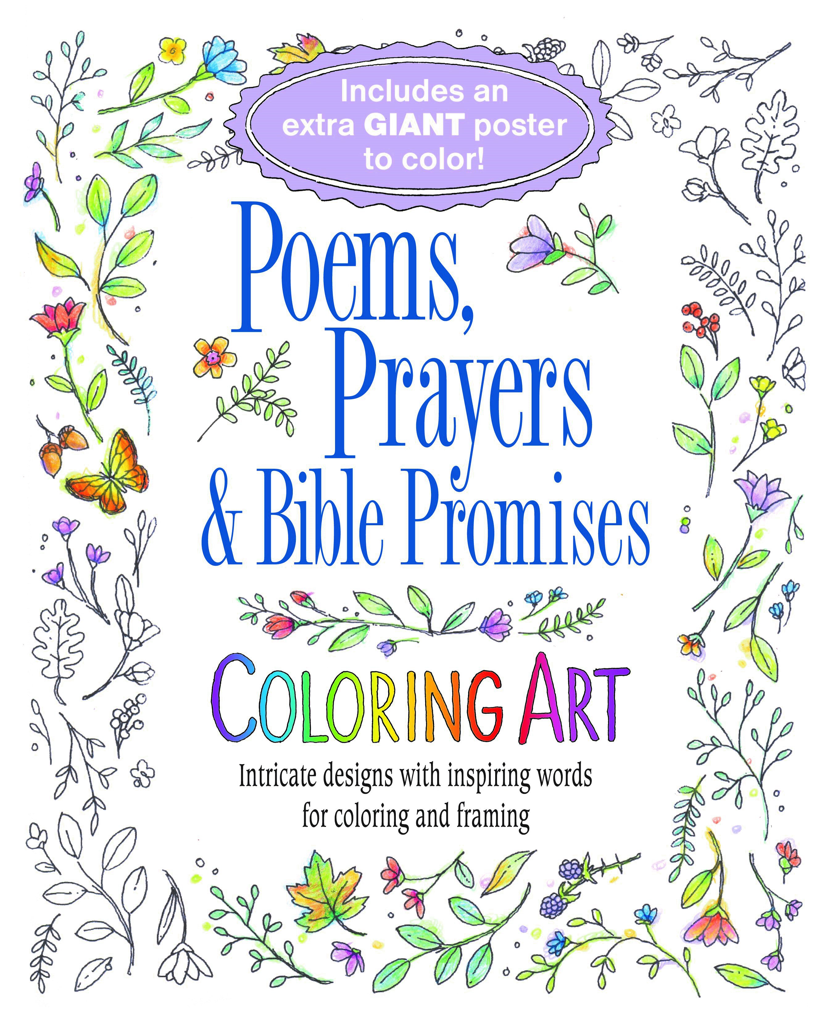 Poems, Prayers and Bible Promises Coloring Book for Adults
