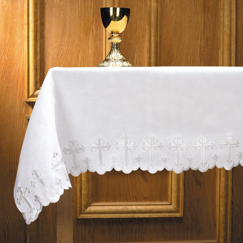 One-Sided Scallop-Edged Cross Altar Frontal
