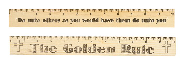 The Golden Rule Wood Ruler - 12/pk