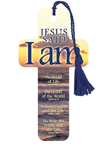 Cross Bookmarks Jesus Said I Am