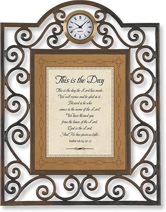 Table Clock This is the Day Psalm 118:24, 26-27