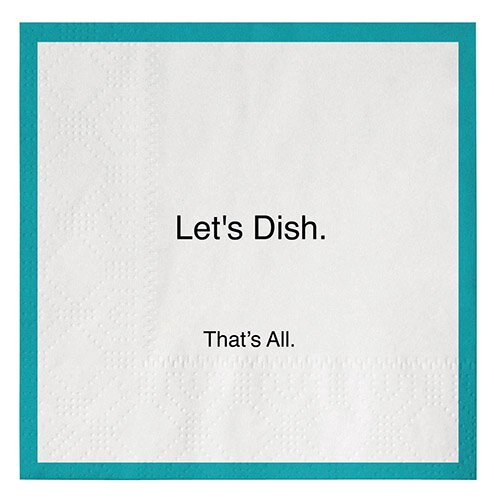 Paper Cocktail Napkins - Let's Dish
