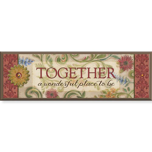 "Together - 8.5"" X 2.75"" Tabletop Plaque"