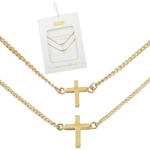 Mommy & Me Cross Necklace Set