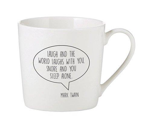 Laugh And The World Café Mug