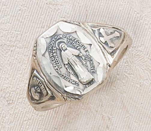Sterling Silver Ring-Miraculous Size 6-10