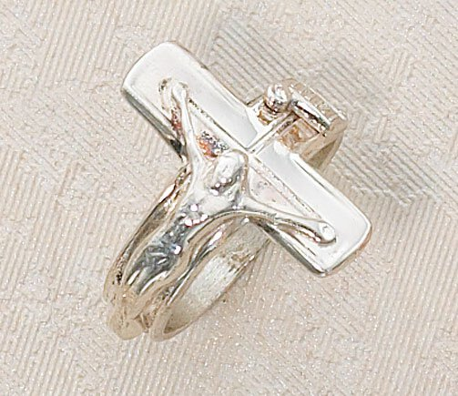 Sterling Silver Ring-Crucifix Size 5-12