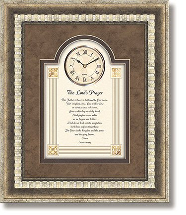 The Lord's Prayer Wall Clock